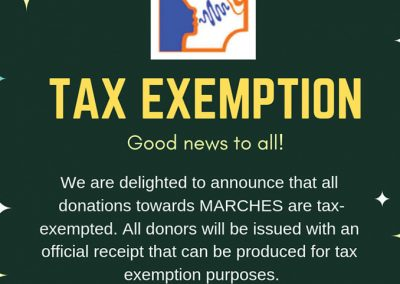 Tax exemption status approved!